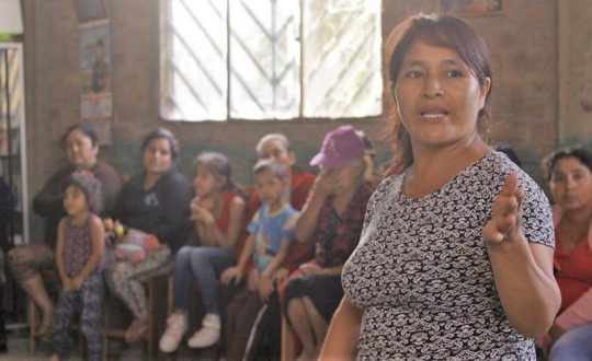 Lecture about women's rights in Peru