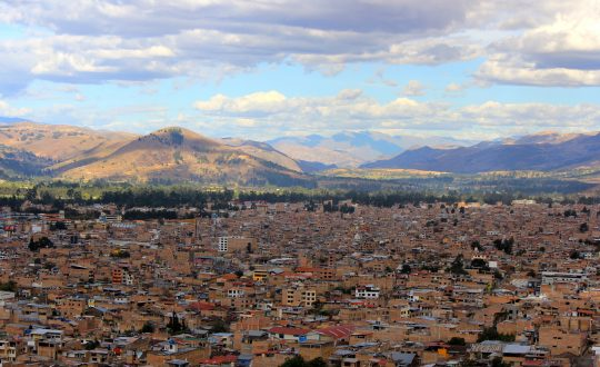 The city of Cajamarca