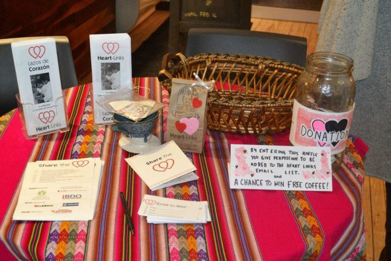 Table at Share the Love event