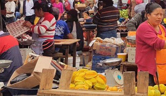 Peruvian open-air market