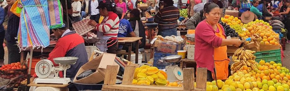 Peruvian open-air market