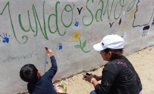"""""""Mundo sano"""" painting"""