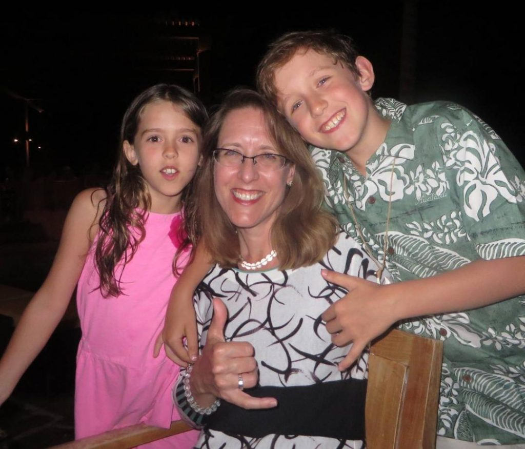 Jennifer Witzel and her children