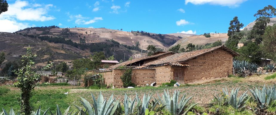 adobe house in rural cajamarca