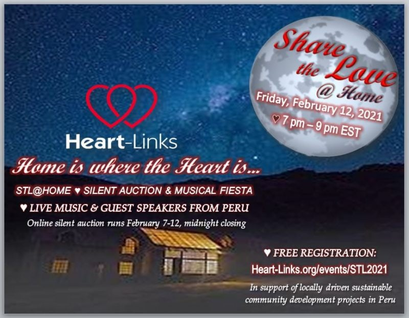 invitation to attend Share the Love @ Home on February 12